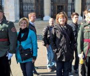 Budapest Walking Tour. Guards of Honour at the Parliament.