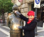 Budapest Walking Tour. With Uncle Karl, the mysterious policeman.