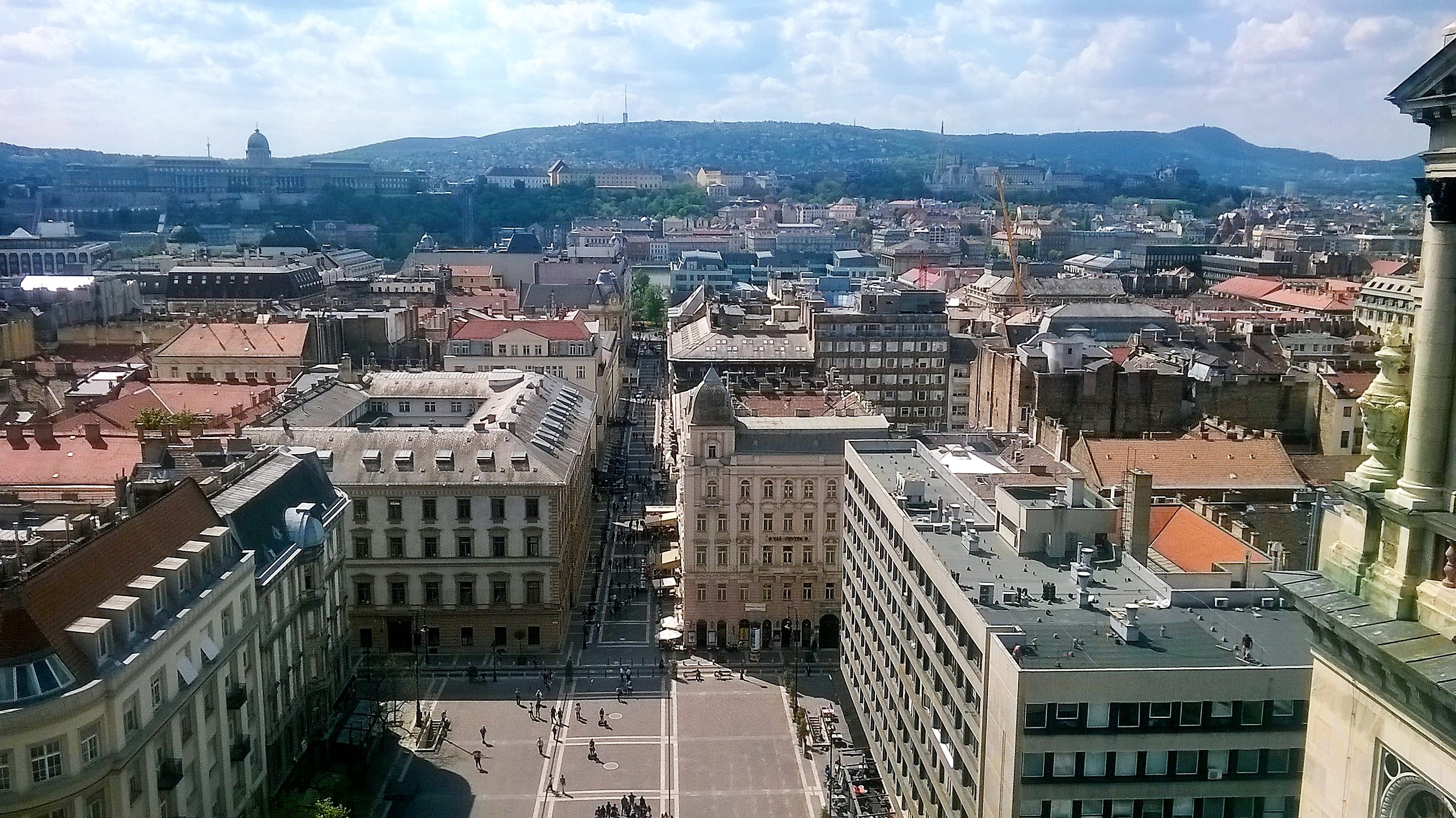 Budapest Walking Tour. View from the dome of the St. Stephen's Basilica.