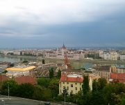Budapest Walking Tour. View over the Parliament.