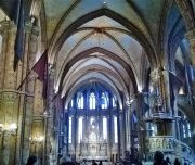 Budapest Walking Tour. Inside the Matthias Church.