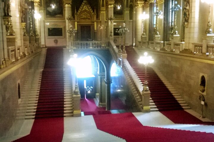 Visiting the Houses of Parliament of Budapest